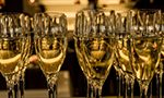What is the risk of exposure to toxic compounds when consuming sparkling wines?