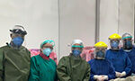 Health professionals fighting COVID-19 in hospitals and risking their health and life to care of infected patients